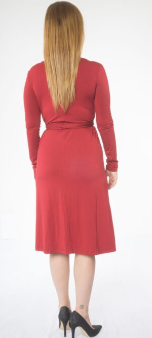 Olivia Long sleeve wrap Jersey Dress