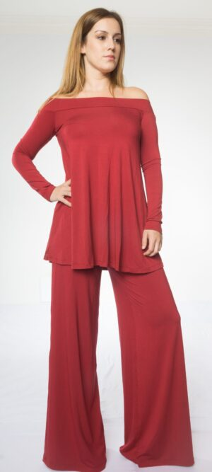 Alex off Shoulder Long sleeve tunic