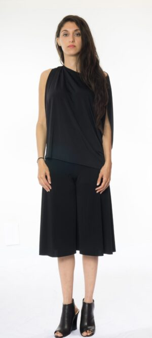 Ella Cowl neck Sleeveless draped Armhole top